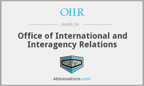 What does OIIR stand for?