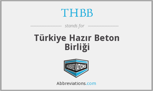 What does THBB stand for?