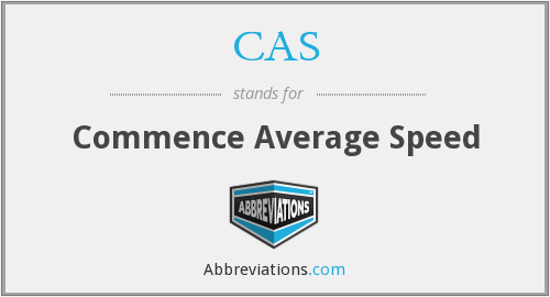 CAS - Commence Average Speed