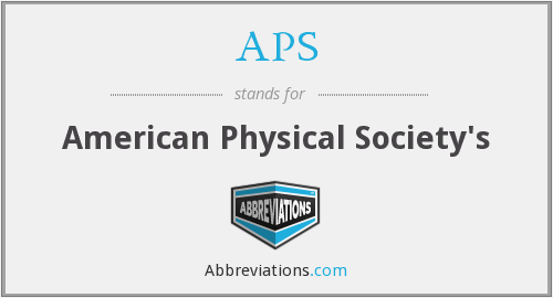 APS - American Physical Society's