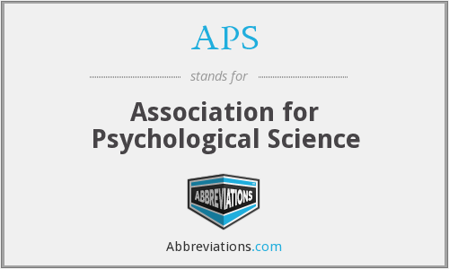 APS - Association for Psychological Science