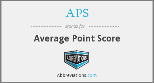 APS - Average Point Score