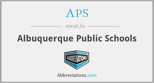 APS - Albuquerque Public Schools