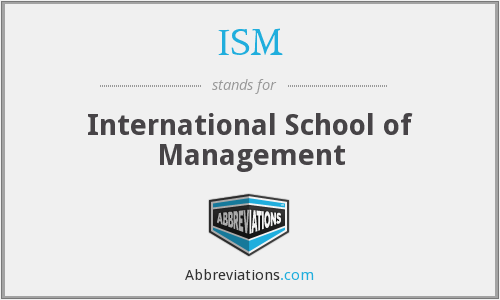 ISM - International School of Management
