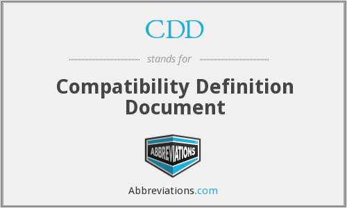 What does CDD stand for? — Page #2