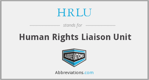 HRLU - Human Rights Liaison Unit