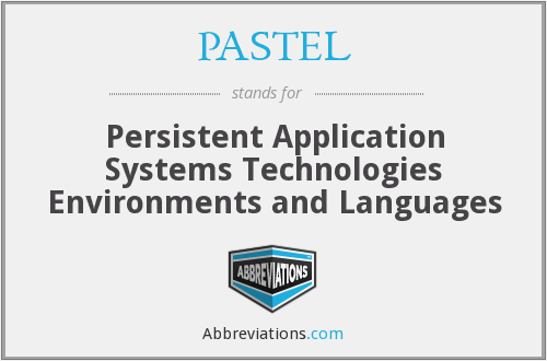 What does PASTEL stand for?