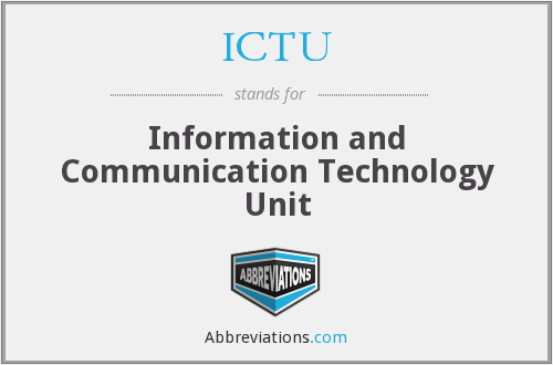 ICTU - Information and Communication Technology Unit