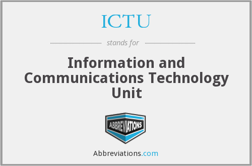 ICTU - Information and Communications Technology Unit