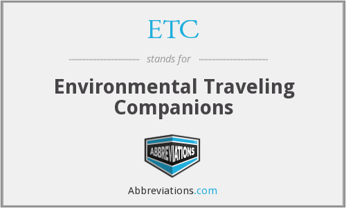 ETC - Environmental Traveling Companions