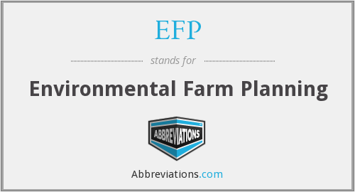 EFP - Environmental Farm Planning