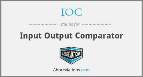 IOC - Input Output Comparator