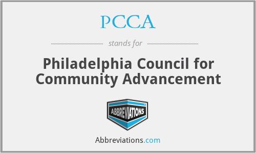 PCCA - Philadelphia Council for Community Advancement