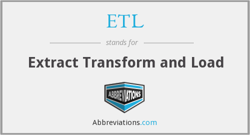 ETL - Extract Transform and Load