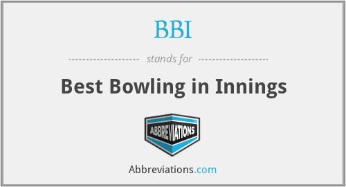 BBI - Best Bowling in Innings