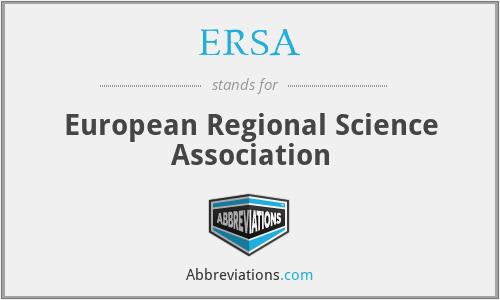ERSA - European Regional Science Association