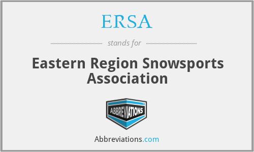 ERSA - Eastern Region Snowsports Association