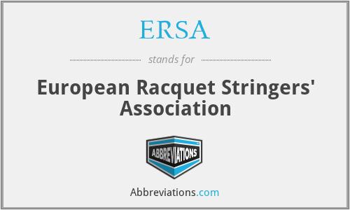 ERSA - European Racquet Stringers' Association