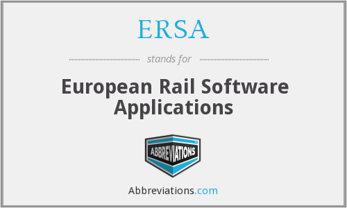ERSA - European Rail Software Applications