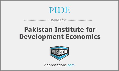 PIDE - Pakistan Institute for Development Economics