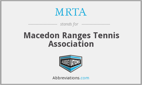 MRTA - Macedon Ranges Tennis Association