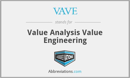 VAVE - Value Analysis Value Engineering