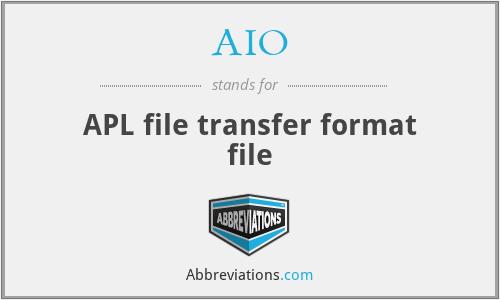 AIO - APL file transfer format file