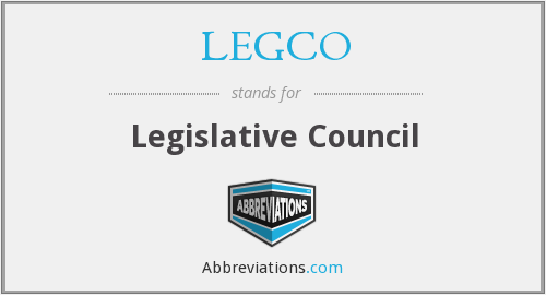 What does LEGCO stand for?