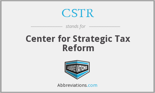 CSTR - Center for Strategic Tax Reform