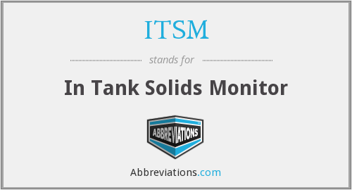 ITSM - In Tank Solids Monitor