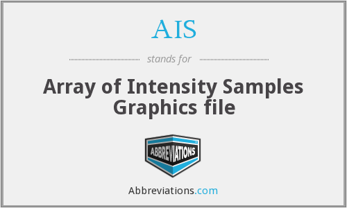 AIS - Array of Intensity Samples Graphics file