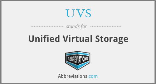 UVS - Unified Virtual Storage