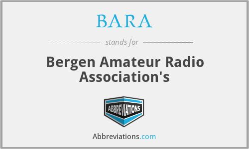 BARA - Bergen Amateur Radio Association's
