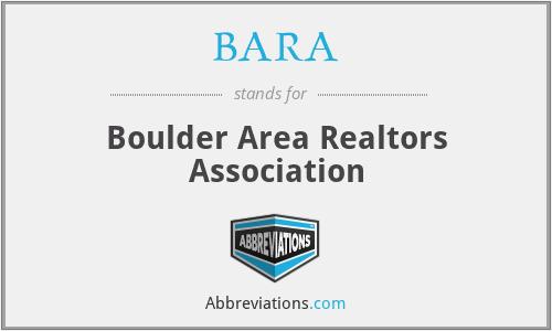 BARA - Boulder Area Realtors Association