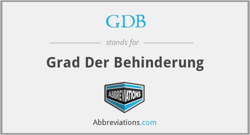 GDB - Grad Der Behinderung