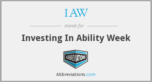 IAW - Investing In Ability Week