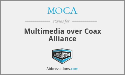 MOCA - Multimedia over Coax Alliance