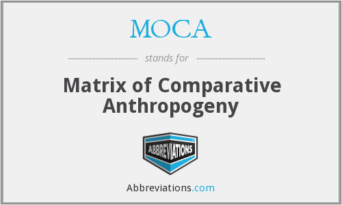 MOCA - Matrix of Comparative Anthropogeny