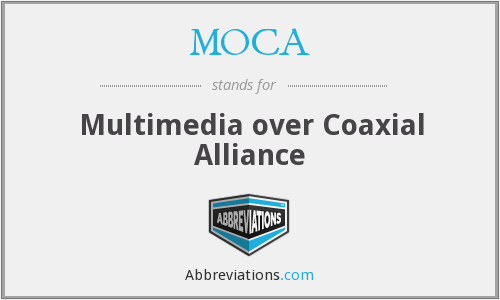 MOCA - Multimedia over Coaxial Alliance