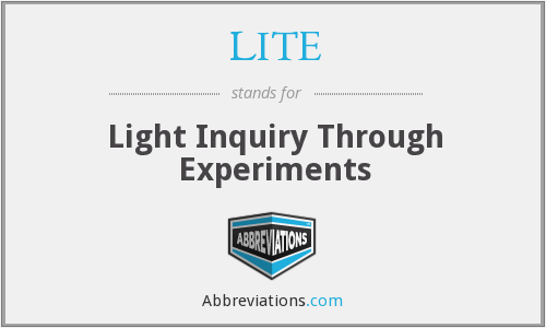 LITE - Light Inquiry Through Experiments