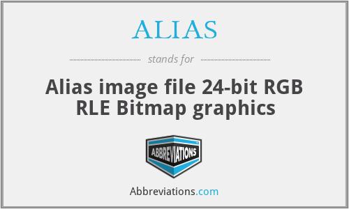ALIAS - Alias image file 24-bit RGB RLE Bitmap graphics