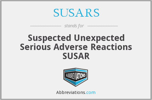 What does SUSARS stand for?