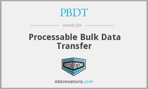 What does PBDT stand for?