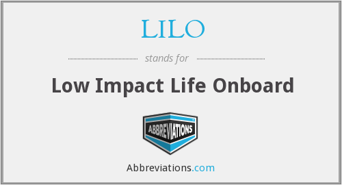 LILO - Low Impact Life Onboard