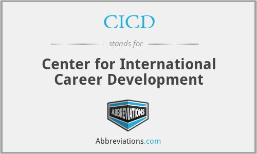 CICD - Center for International Career Development
