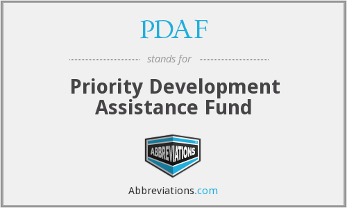 PDAF - Priority Development Assistance Fund