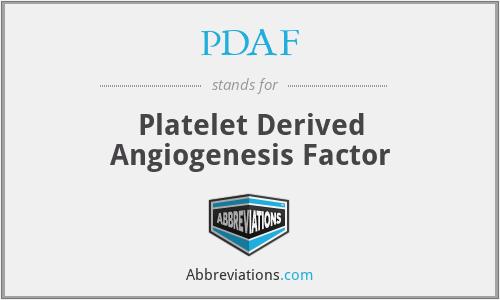 PDAF - Platelet Derived Angiogenesis Factor