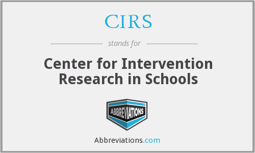 CIRS - Center for Intervention Research in Schools