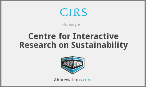 CIRS - Centre for Interactive Research on Sustainability