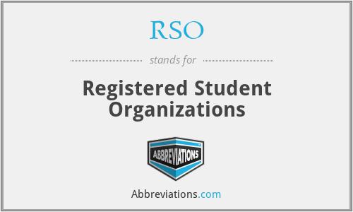 RSO - Registered Student Organizations